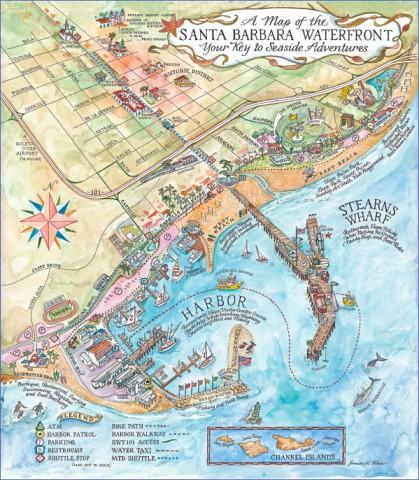 santa barbara map 14 Santa Barbara Map