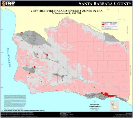 santa barbara map 17 Santa Barbara Map