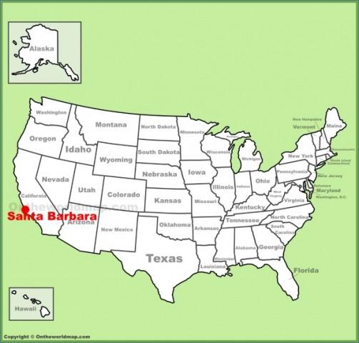 santa barbara map 2 Santa Barbara Map