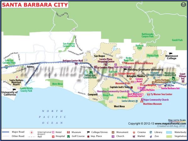 santa barbara map 4 Santa Barbara Map