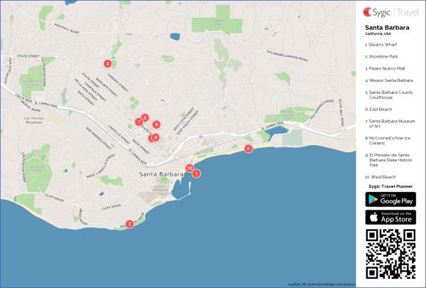 santa barbara map 8 1 Santa Barbara Map