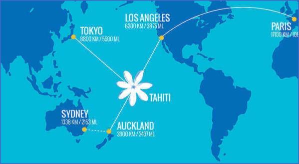 tahiti map 1 Tahiti Map