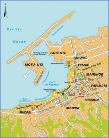 tahiti map 7 Tahiti Map