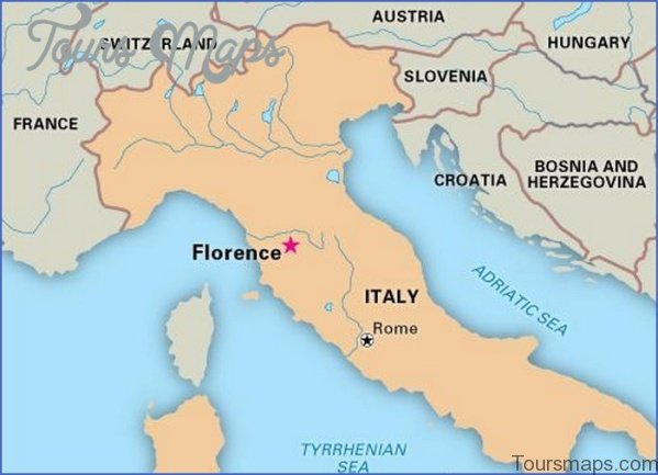 map of florence italy 4 Map of Florence Italy
