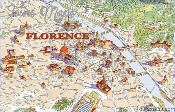 map of florence 1 Map of Florence