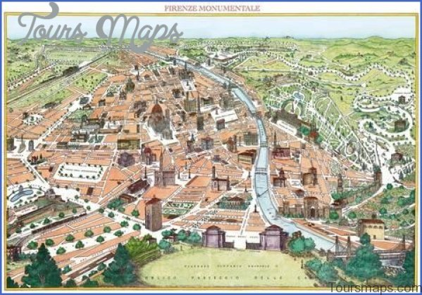 map of florence 14 Map of Florence