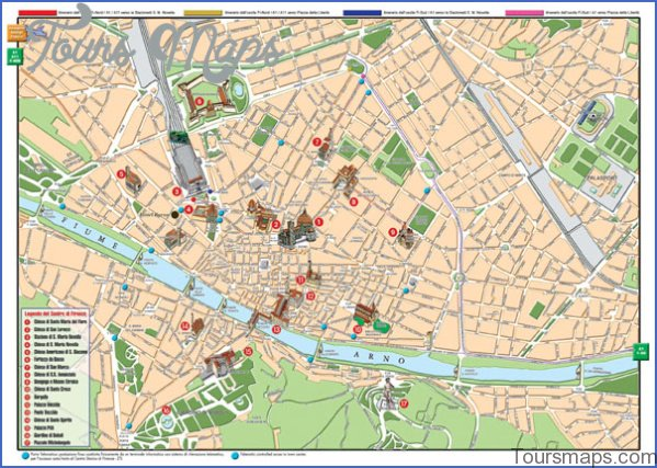 map of florence 7 Map of Florence