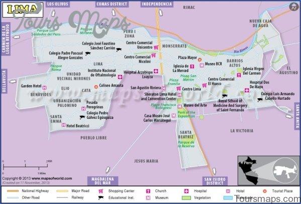 map of lima peru city 15 Map of Lima Peru City