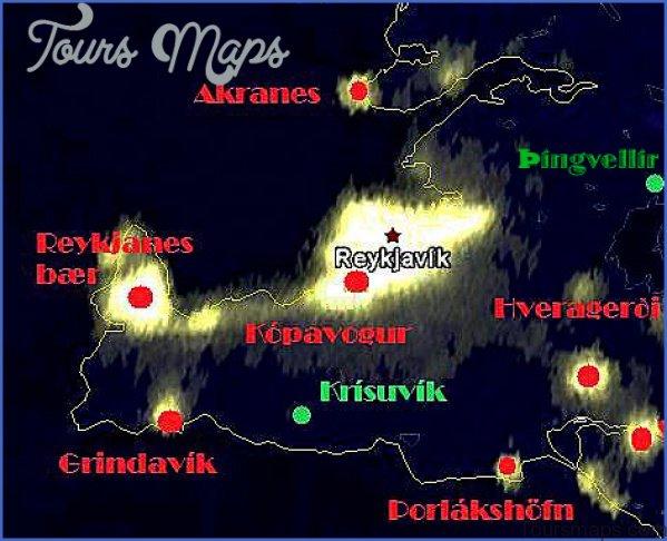 map of northern lights reykjavik 0 Map of Northern Lights Reykjavik