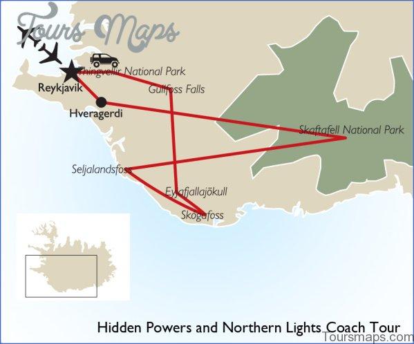 map of northern lights reykjavik 4 Map of Northern Lights Reykjavik