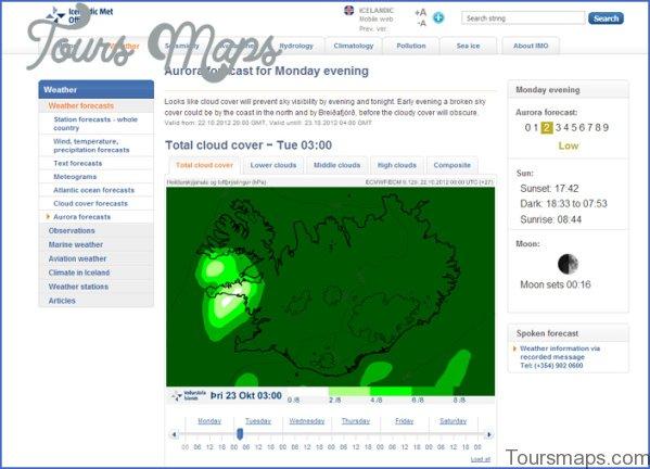 map of northern lights reykjavik 6 Map of Northern Lights Reykjavik
