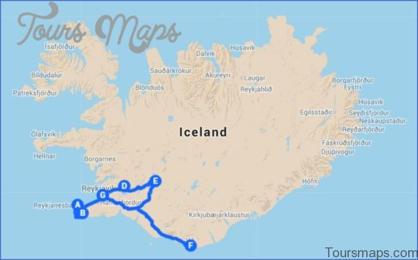 map of northern lights reykjavik 8 Map of Northern Lights Reykjavik