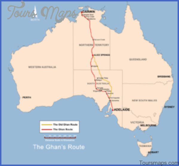250px the ghan route map Map of Old Ghan Railway