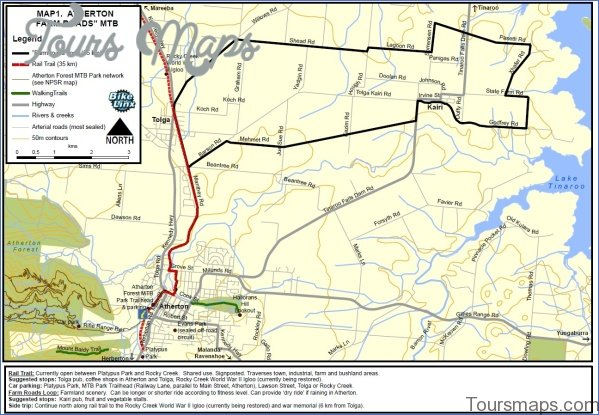 atherton farm roads Map of Tablelands Highway