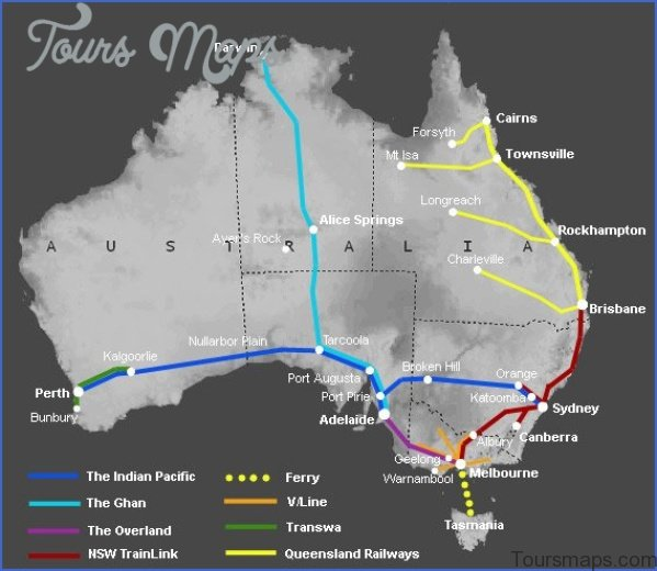 aust map Perth Map and Travel Guide