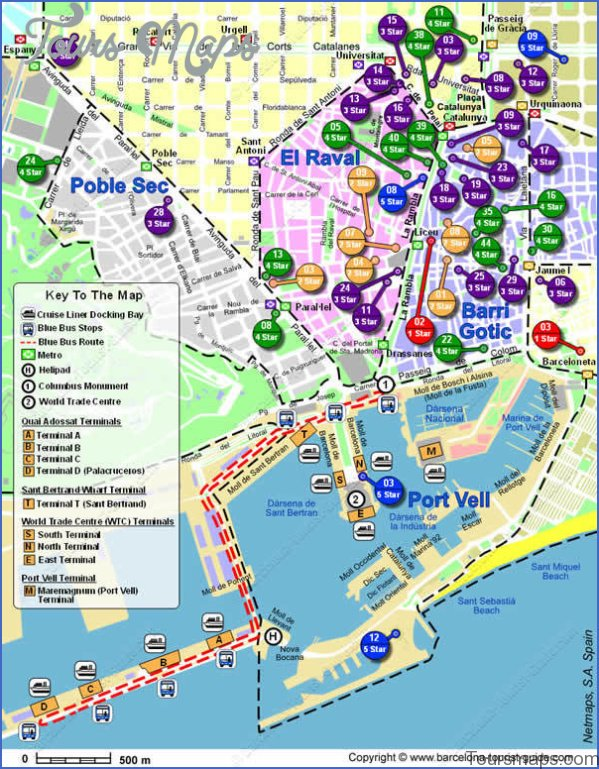 barcelona map and travel guide 11 Barcelona Map and Travel Guide