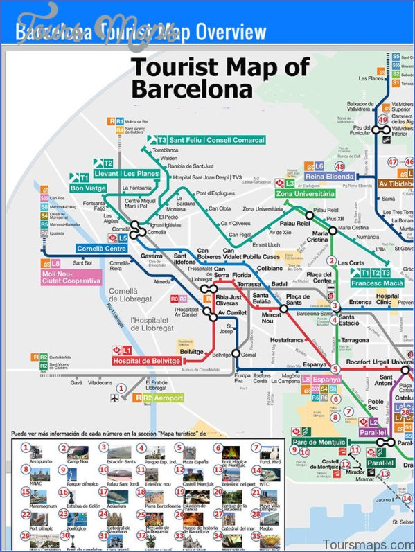 barcelona map and travel guide 15 Barcelona Map and Travel Guide