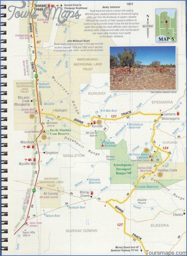 binns 3 Map of Binns Track NT Australia