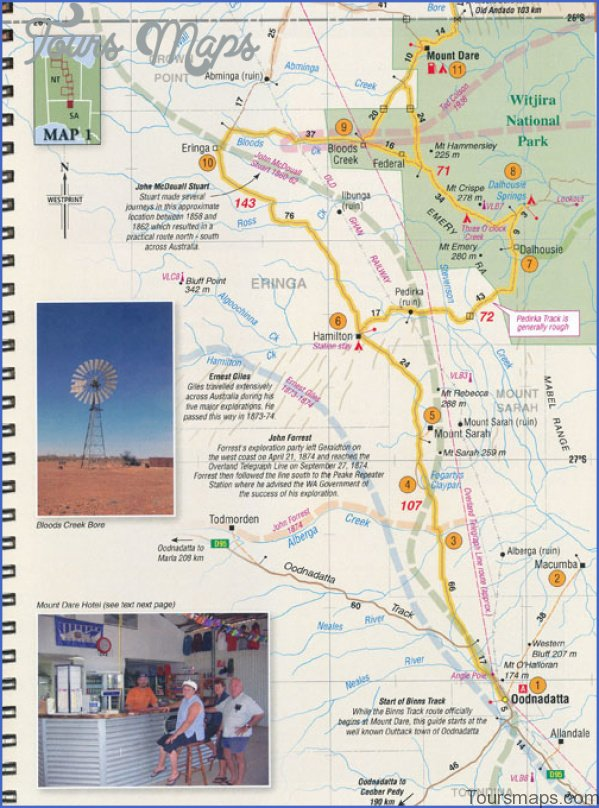 binns track booklet westprint sample Map of Binns Track NT Australia