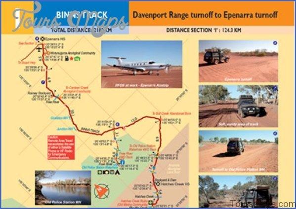 binns track ottg contents page Map of Binns Track NT Australia