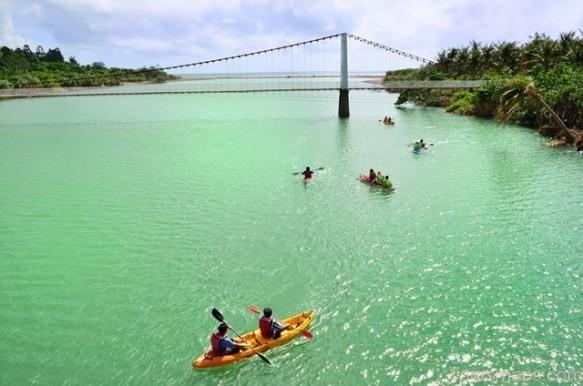 Boats and Bridge at Kenting National Park, Taiwan