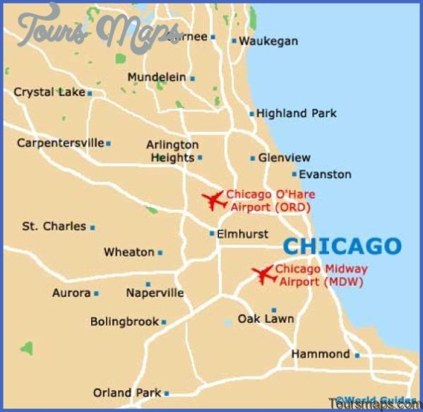 Chicago Map and Travel Guide - ToursMaps.com ® on