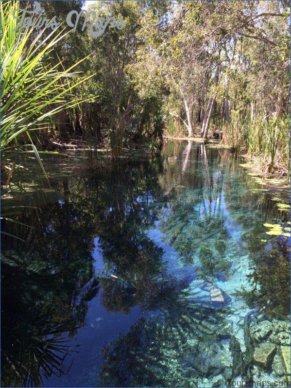 fixedw large 4x1 Map of Mataranka Australia Tourism