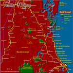 gold coast map queensland 150x150 Queensland Map and Travel Guide