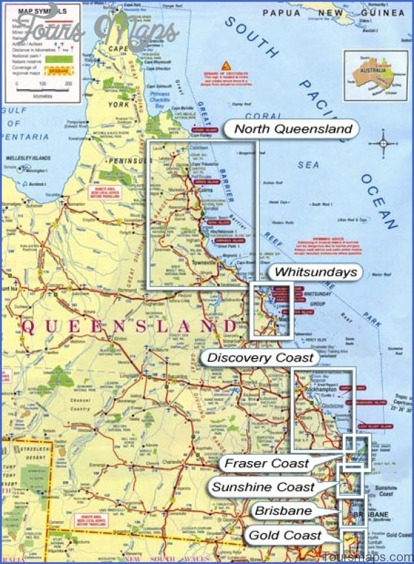 home Queensland Map and Travel Guide