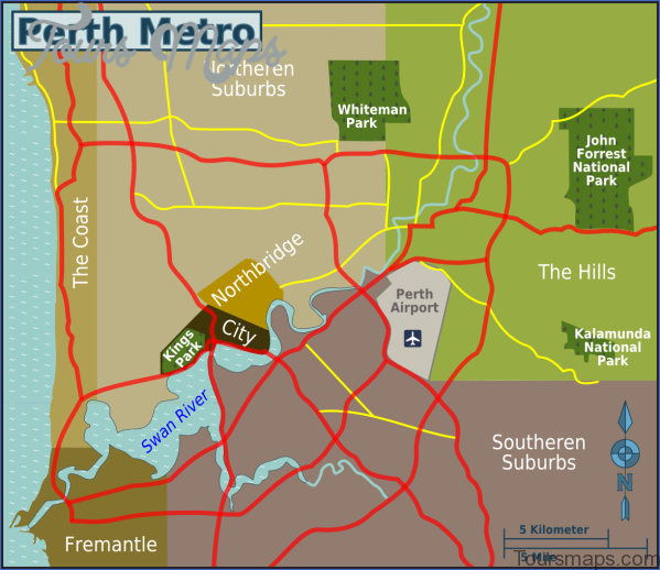 inner perth map Perth Map and Travel Guide