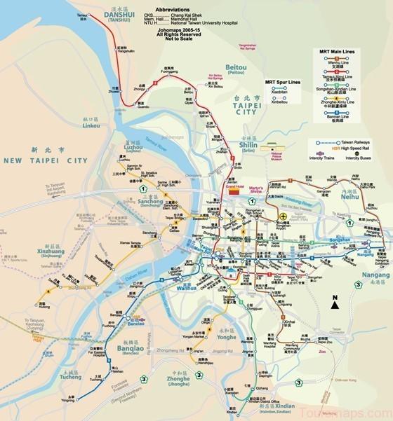 Large map of Taipei 3