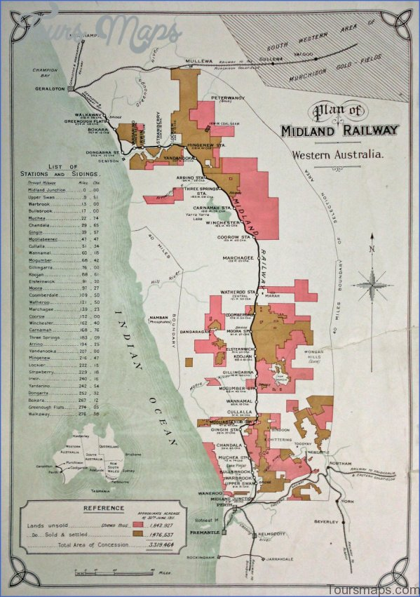 mrwa midland railway plan Map of Old Ghan Railway
