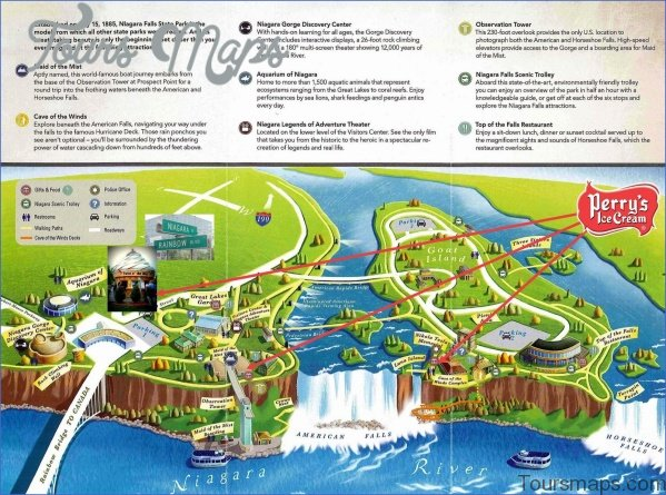 niagara falls map and travel guide 4 Niagara Falls Map and Travel Guide