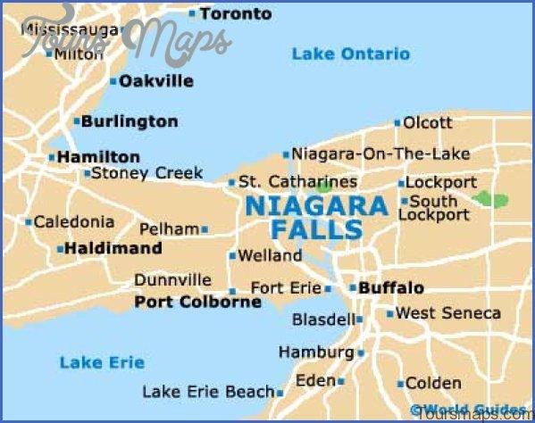 niagara falls map and travel guide 7 Niagara Falls Map and Travel Guide
