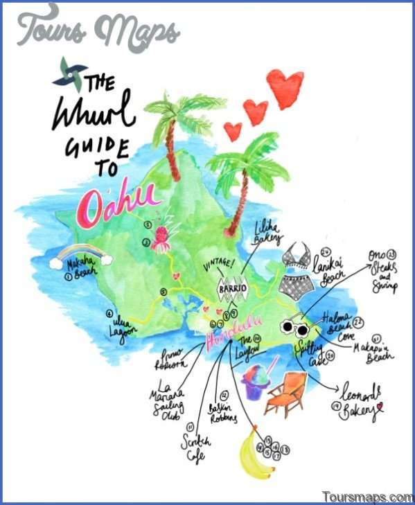oahu map and travel guide 91 Oahu Map and Travel Guide