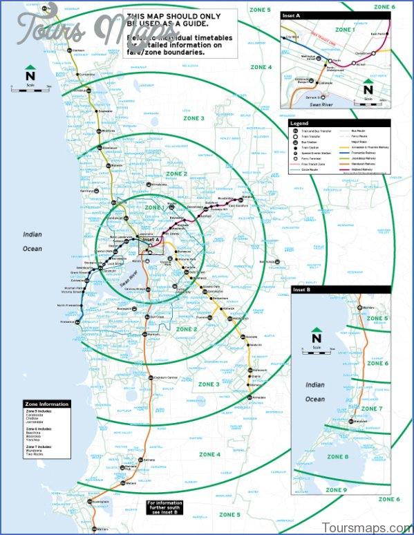 transperth zonemap Perth Map and Travel Guide