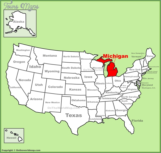 where is michigan michigan map location 5 Where is Michigan ? Michigan Map Location