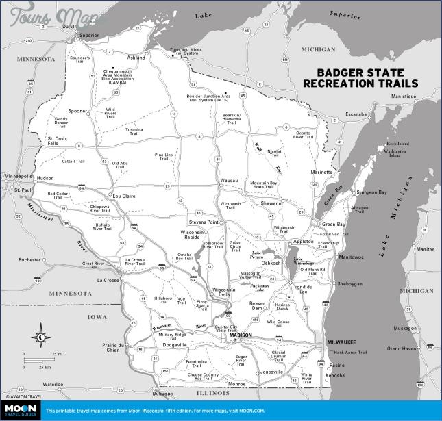 wisconsin travel map 0 Wisconsin Travel Map