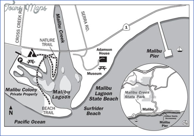 Malibu Lagoon State Beach is located at Cross Creek Rd and Pacific ...