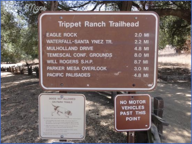trippet ranch area of topanga state park trail  3 Trippet Ranch Area of Topanga State Park Trail