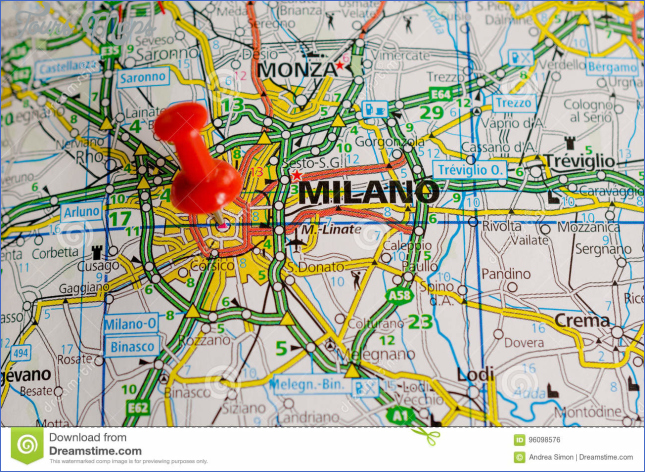 Milan on map stock photo. Image of milano, atlas, gorgonzola - 96098576