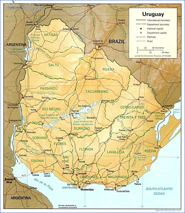 Uruguay Maps | Printable Maps of Uruguay for Download