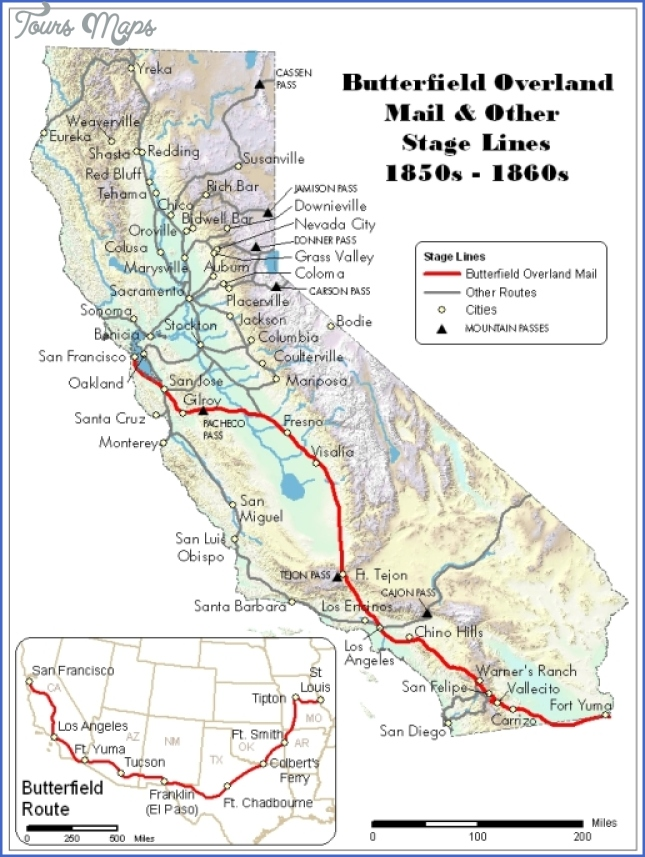 old stagecoach trail map 2 Old Stagecoach Trail Map