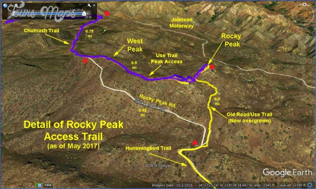 rocky peak trail map 3 Rocky Peak Trail Map