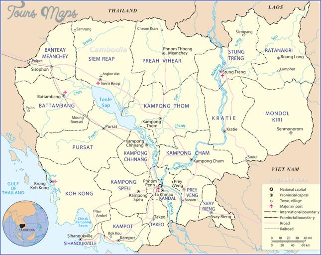 cambodia map map of cambodia  2 Cambodia Map   Map Of Cambodia