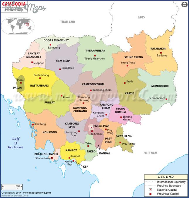 cambodia map map of cambodia  4 Cambodia Map   Map Of Cambodia