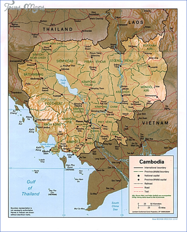 cambodia map outline maps cambodia  4 Cambodia Map Outline   Maps Cambodia