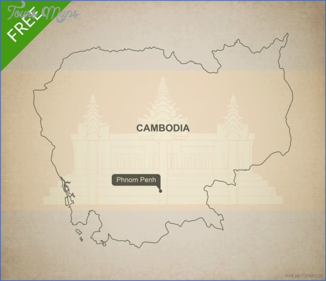 cambodia map outline maps cambodia  5 Cambodia Map Outline   Maps Cambodia
