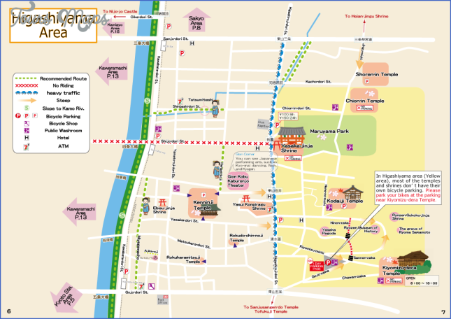 kyoto tourist map kyoto map english  5 Kyoto Tourist Map   Kyoto Map English