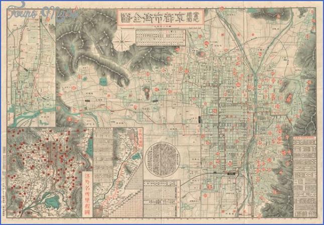 map of kyoto japan  6 Map Of Kyoto Japan